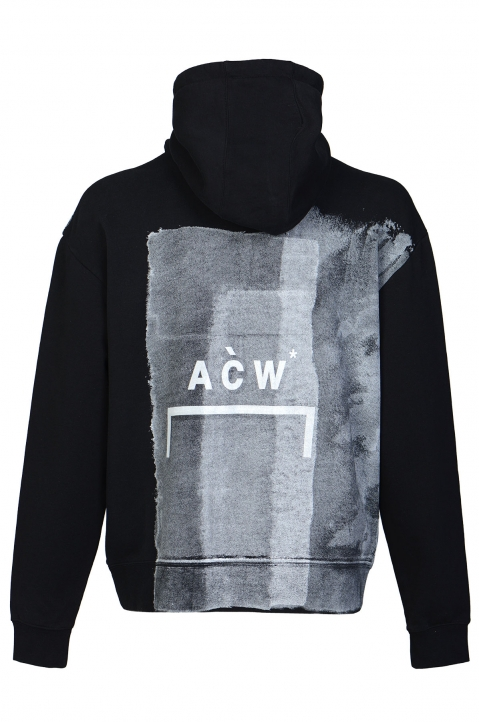 A-COLD-WALL* Painted Black Hoodie 1