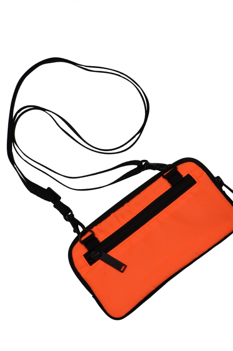 Y-3 Orange Logo Crossbody Bag 1