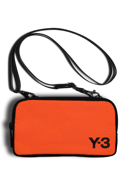 Y-3 Orange Logo Crossbody Bag 0