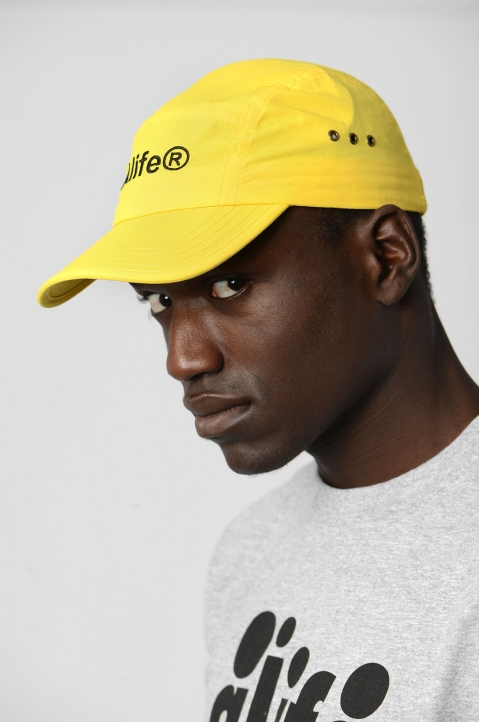 ALIFE Yellow 5-Panel Cap 1