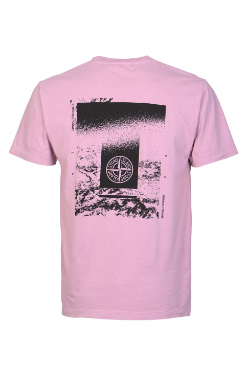 STONE ISLAND Pink Drone Two Tee 1