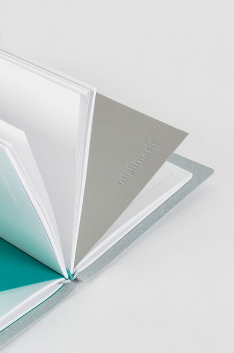 mishmash Creative Log Sky Grey Notebook 3