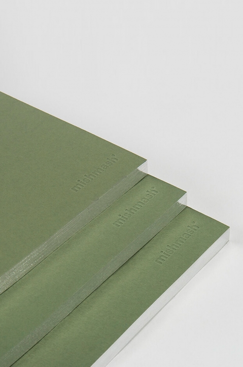 mishmash Holy Silver Mid Green Notebook 2