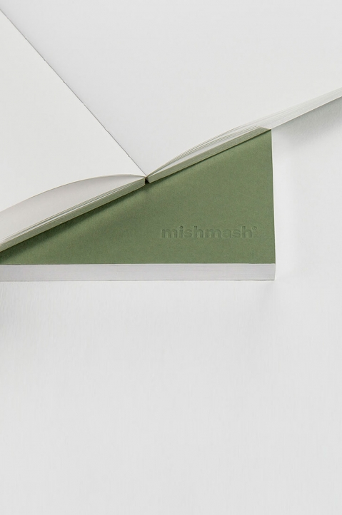 mishmash Holy Silver Mid Green Notebook 4