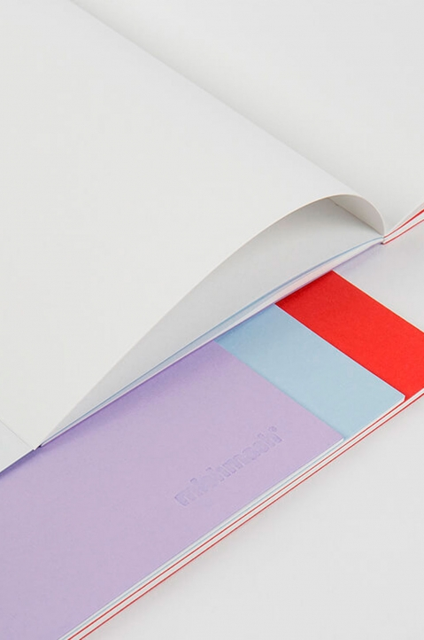 mishmash Easygoing Colour-blocking Lavender Notebook 1