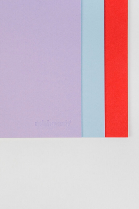 mishmash Easygoing Colour-blocking Lavender Notebook 4