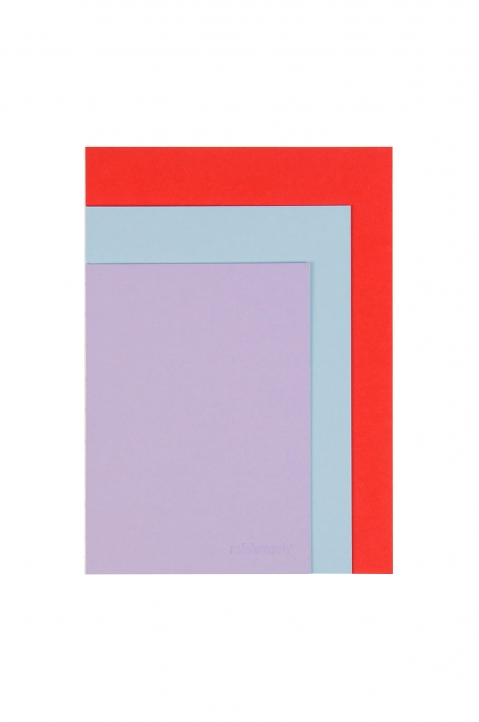 mishmash Easygoing Colour-blocking Lavender Notebook 0