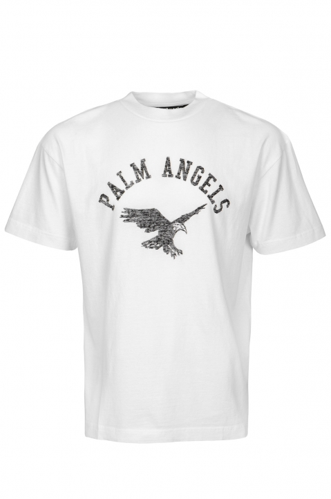 PALM ANGELS College Eagle White Tee 0