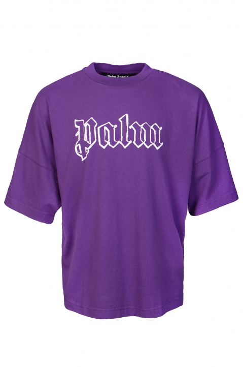 PALM ANGELS Blank Logo Purple Tee 0