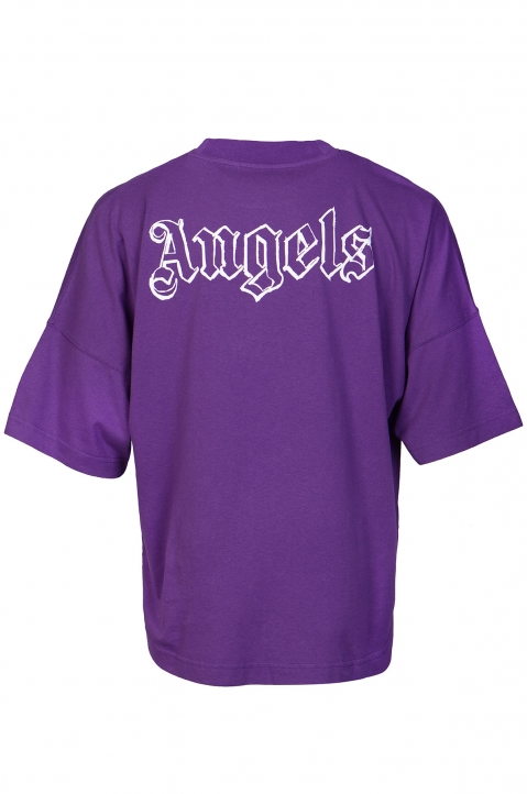 PALM ANGELS Blank Logo Purple Tee 1