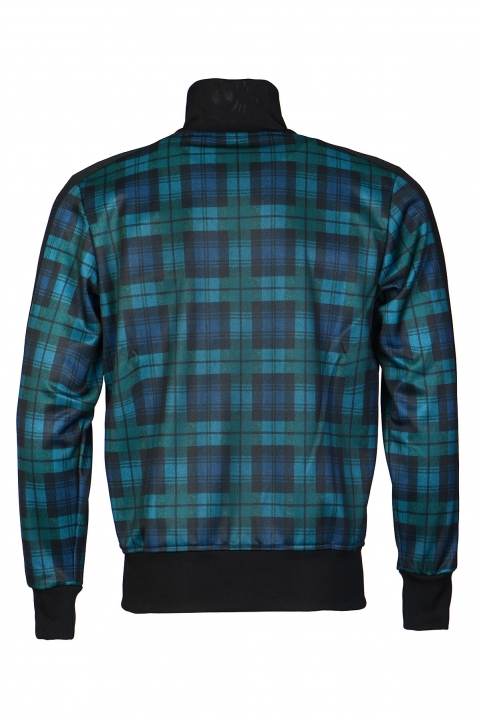 PALM ANGELS Black/Teal Checks Classic Track Jacket  1