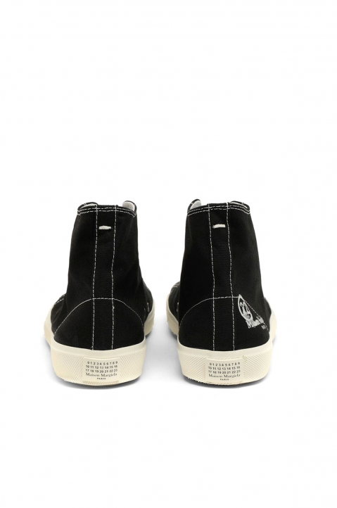 MAISON MARGIELA Black Vandal Tabi Hi Top Sneakers 4
