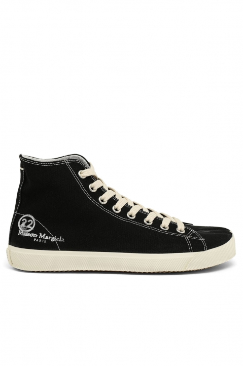 MAISON MARGIELA Black Vandal Tabi Hi Top Sneakers 0