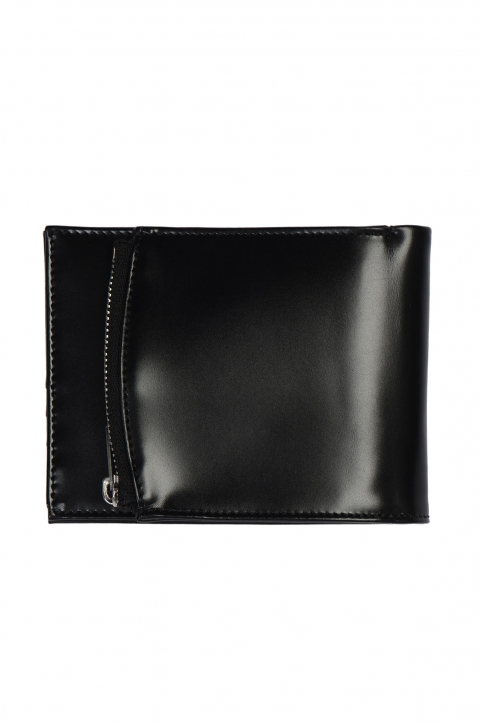 MAISON MARGIELA Black Leather Zip Wallet 1