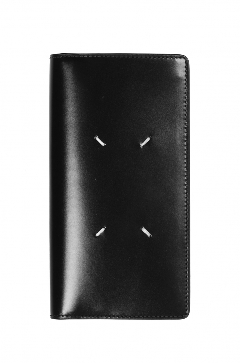 MAISON MARGIELA Long Black Leather Wallet 0
