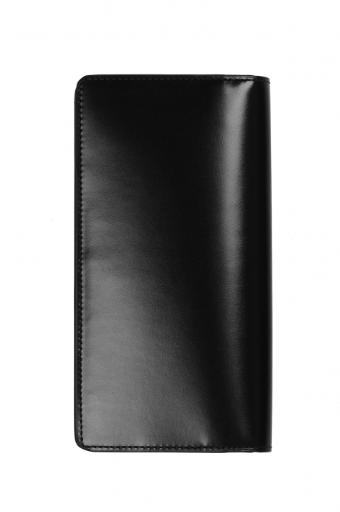 MAISON MARGIELA Long Black Leather Wallet 2