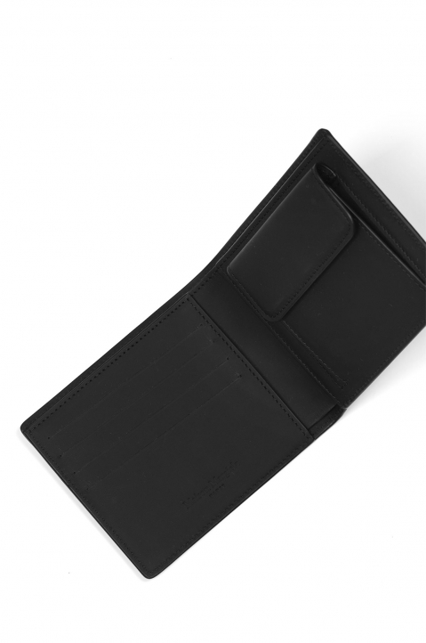 MAISON MARGIELA Smooth Black Leather Wallet 2