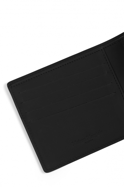 MAISON MARGIELA Smooth Black Leather Wallet 3