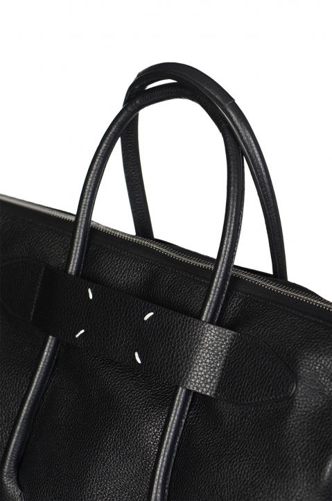 MAISON MARGIELA Large Calfskin Black Leather Bag 2