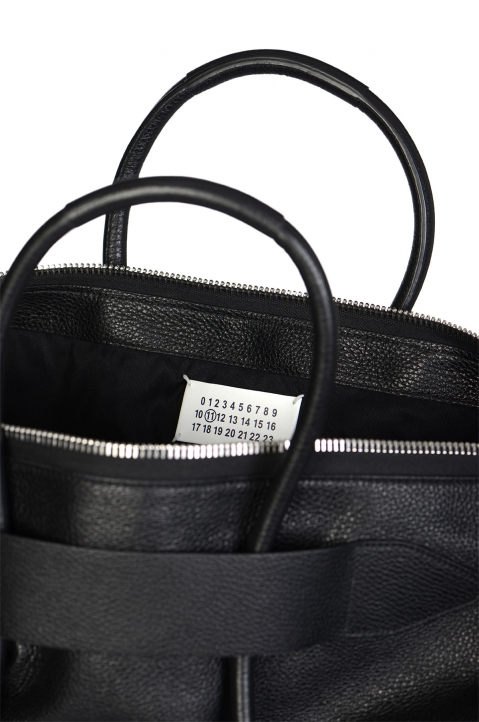 MAISON MARGIELA Large Calfskin Black Leather Bag 3