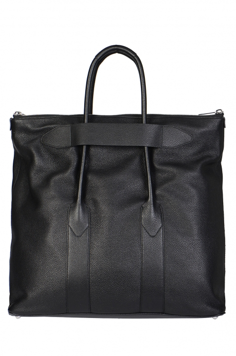 MAISON MARGIELA Large Deerskin Black Leather Bag 1