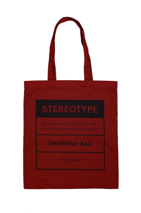 MAISON MARGIELA Red Shopping Bag 0