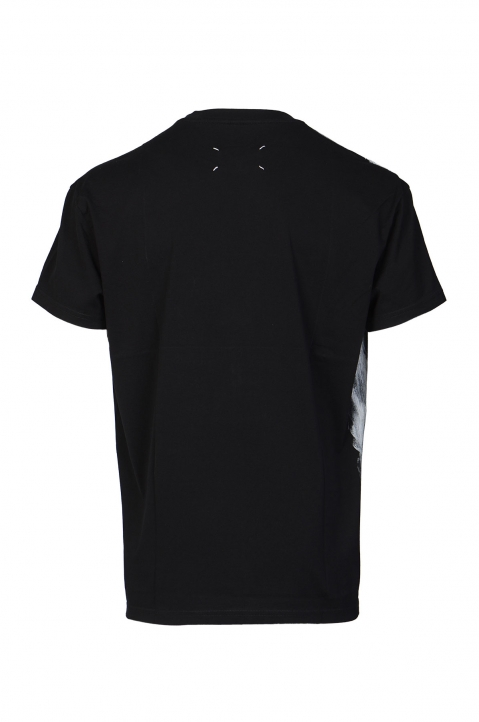 MAISON MARGIELA Black Painted Tee 1