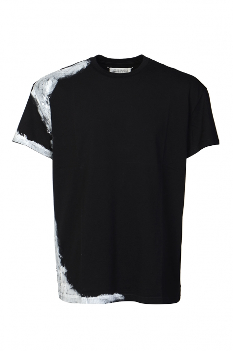 MAISON MARGIELA Black Painted Tee 0