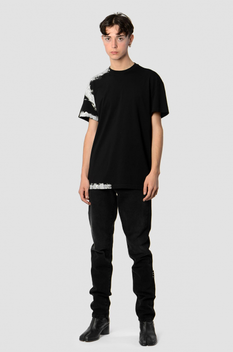 MAISON MARGIELA Black Painted Tee 3