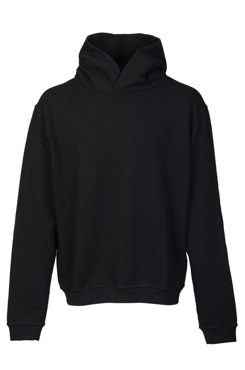 MAISON MARGIELA Black Cut-Out Logo Hoodie 0
