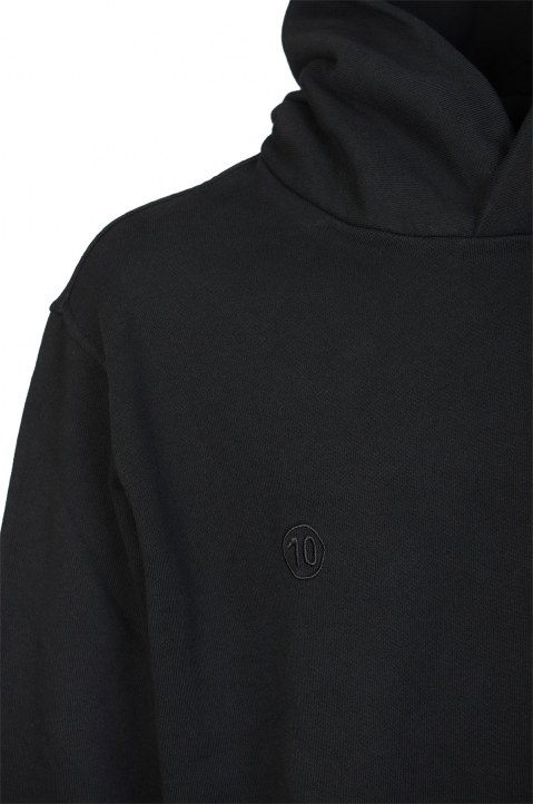 MAISON MARGIELA Black Cut-Out Logo Hoodie 2