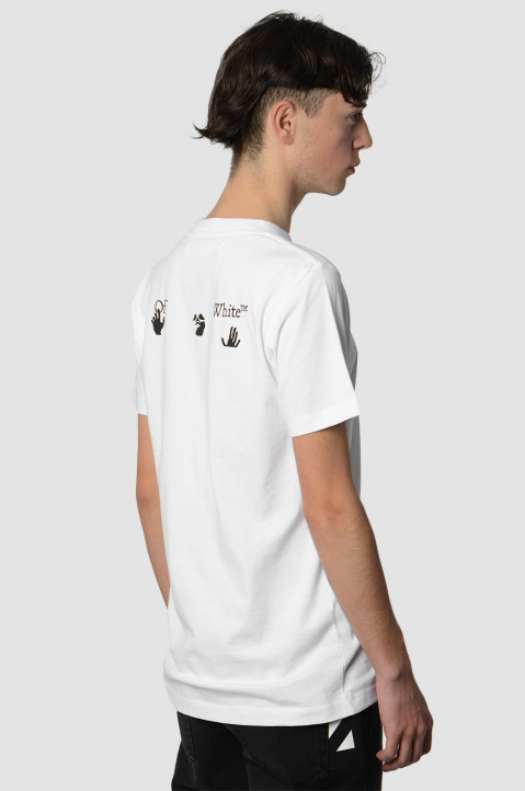 OFF-WHITE Hands Logo White Slim Tee 1