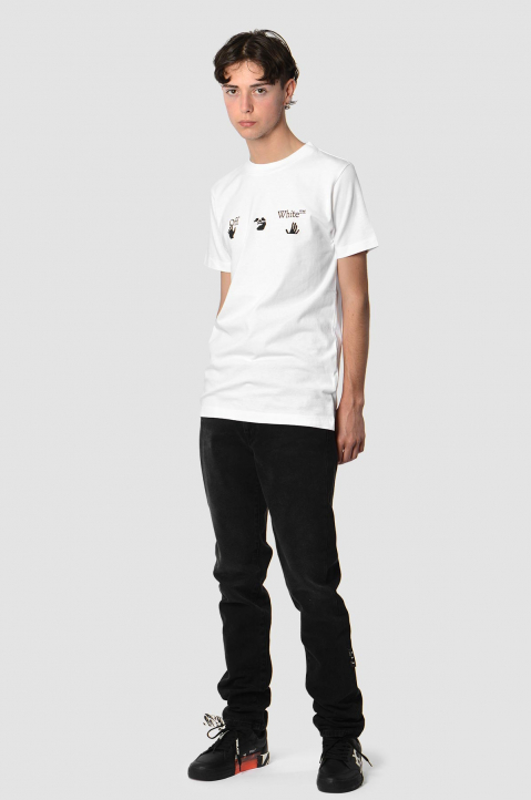 OFF-WHITE Hands Logo White Slim Tee 2