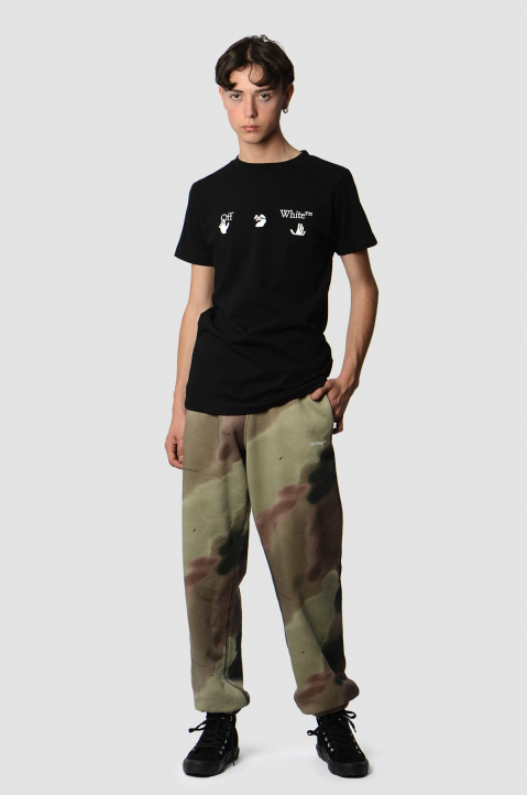 OFF-WHITE Hands Logo Black Slim Tee 2