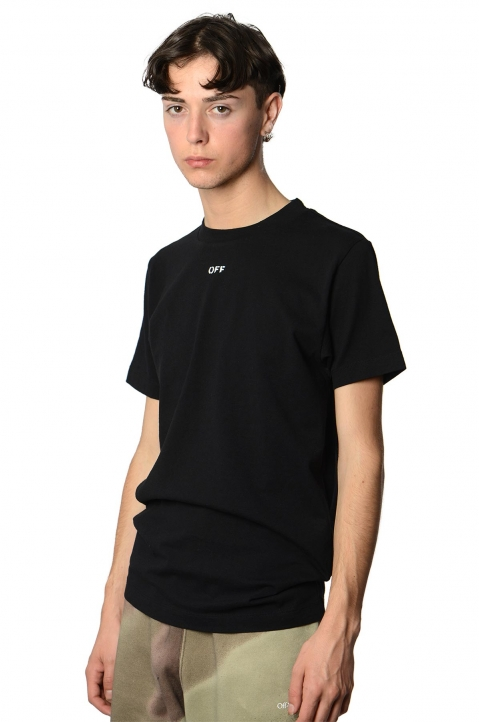 OFF-WHITE Arrows Stencil Black Tee  0