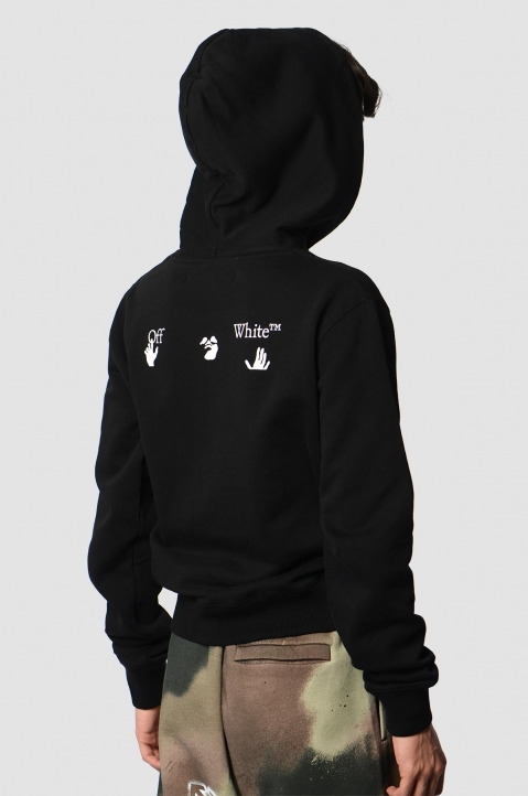 OFF-WHITE Hands Logo Black Hoodie 1