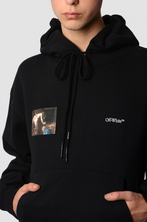 OFF-WHITE Caravaggio Angel Black Crop Hoodie 2