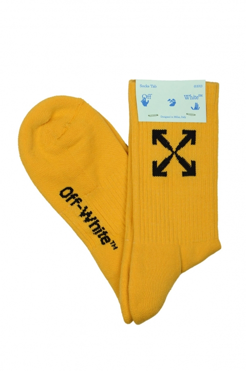 OFF-WHITE Yellow Arrows Socks 0