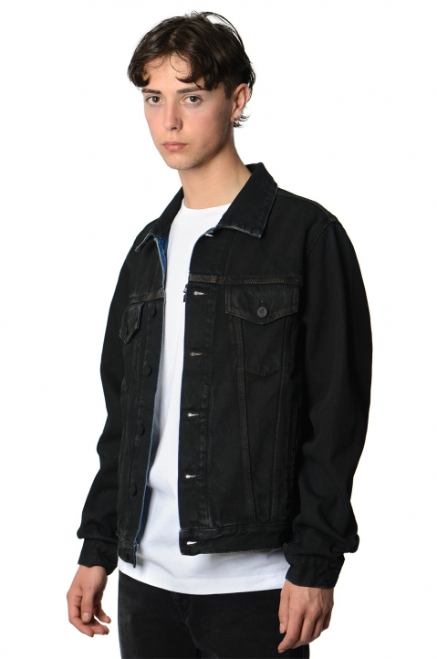 OFF-WHITE Arrows Stencil Black Denim Jacket 0