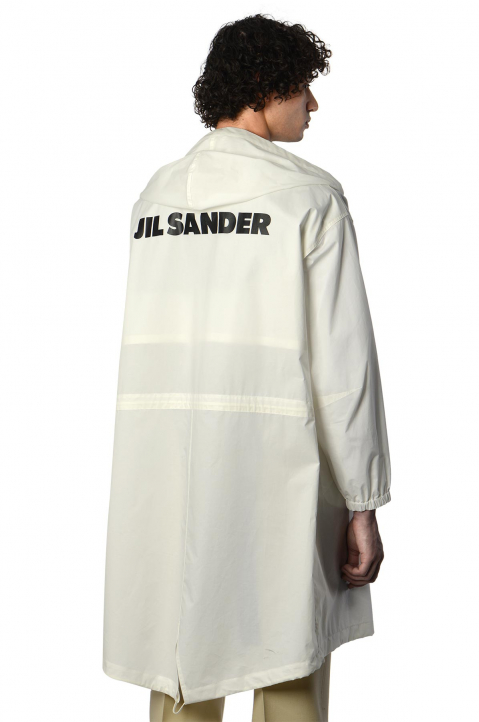JIL SANDER White Fishtail Parka 0