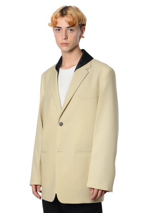 JIL SANDER Sharp Yoke Wool Beige Jacket  0