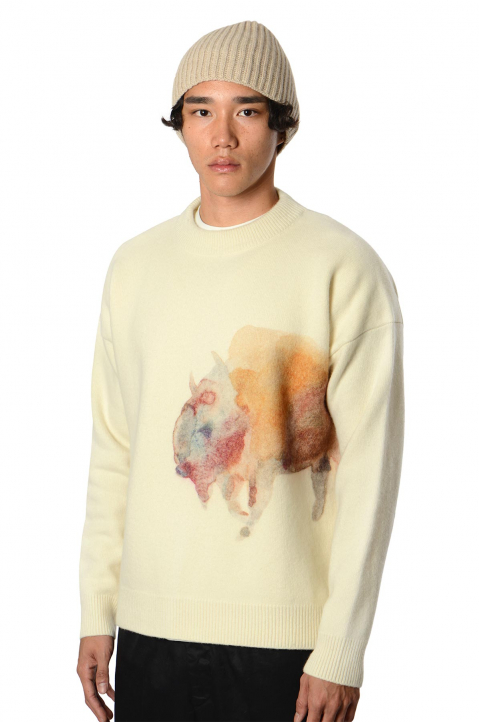 JIL SANDER Buffalo Cream Sweater  0