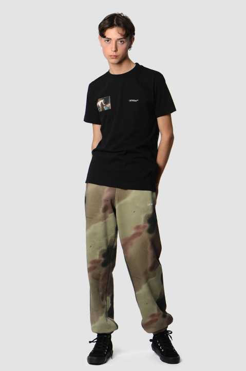 OFF-WHITE Caravaggio Angel Slim Black Tee 3