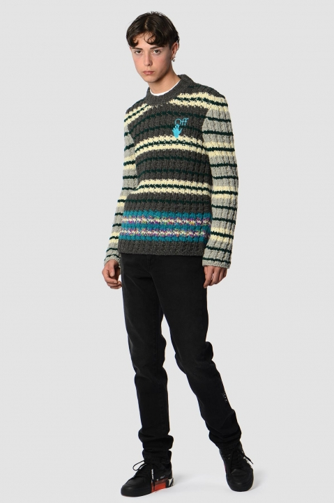OFF-WHITE Hand Striped Knit Sweater  3