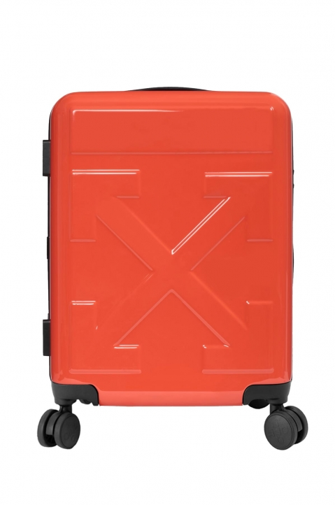 OFF-WHITE Quotes Orange Trolley Luggage  0