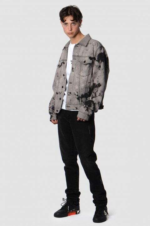 OFF-WHITE Tie Dye Slim Lilac Denim Jacket 3