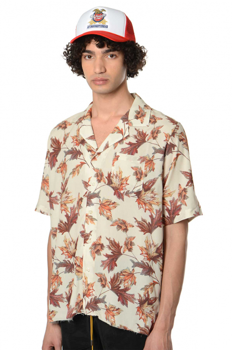 RHUDE Hawaiian Logo Shirt 0