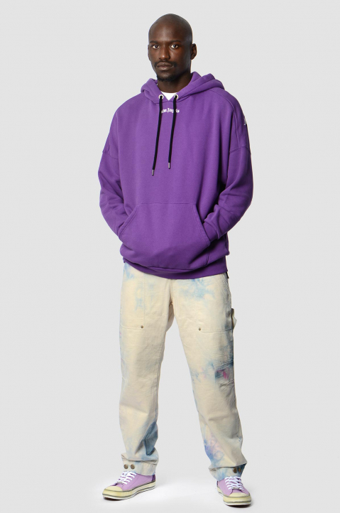 PALM ANGELS Purple Classic Logo Hoodie  3