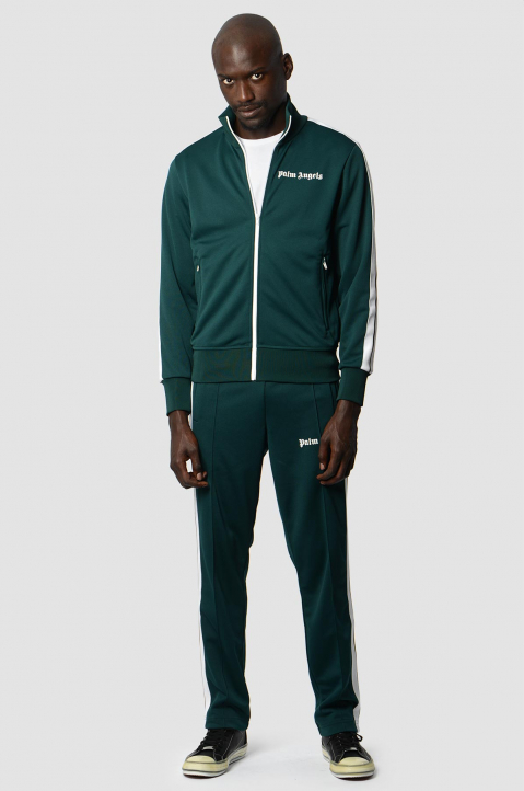 PALM ANGELS Classic Dark Green Trackpants  3