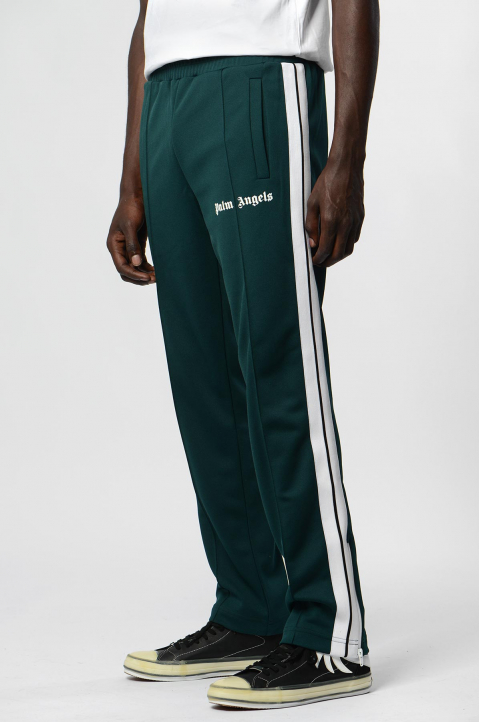 PALM ANGELS Classic Dark Green Trackpants  1